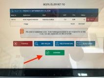 """Følg betalingsvejledning mm på skærmen eller klik """"Godkend"""", hvis du har bestilt en golfbil til en senere tid"""