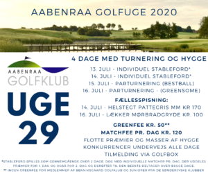 Aabenraa Golfuge 2020 - 13. juli @ Aabenraa Golfklub | Aabenraa | Danmark