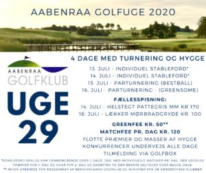 Aabenraa Golfuge 2020 - 15. juli @ Aabenraa Golfklub   Aabenraa   Danmark